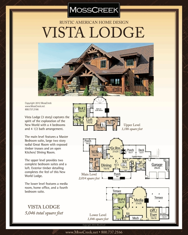 Vista Lodge 3 Story 8x10 Beige
